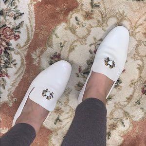 Zara beige nude mules loafers